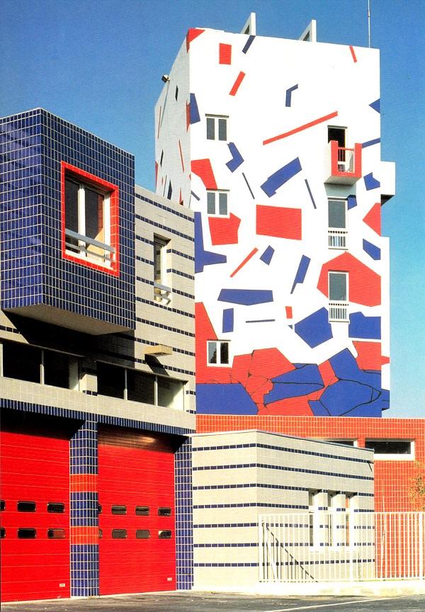 Choisy Le Roi fire station, 1990